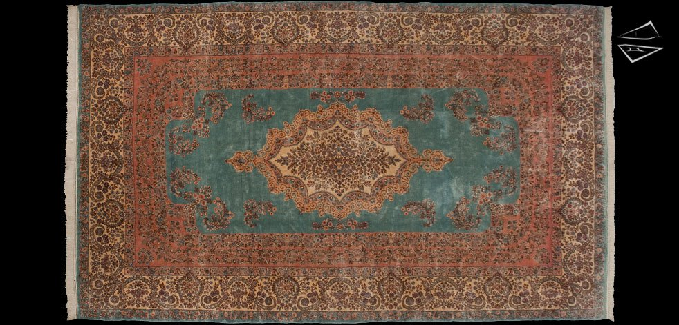 9x15 Persian Kerman Crown Rug