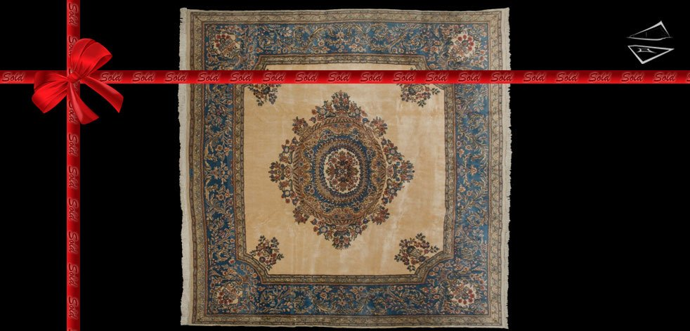 10x10 Persian Kerman Rug