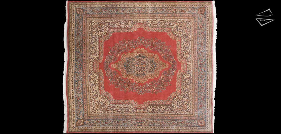 10x11 Persian Kerman Square Rug