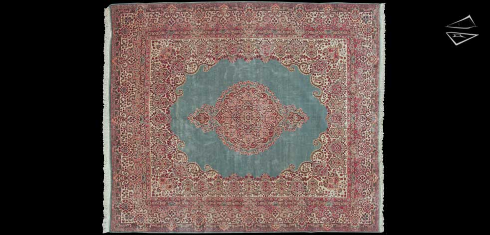 11x13 Persian Kerman Square Rug