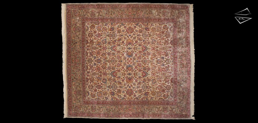 12x13 Persian Kerman Square Rug