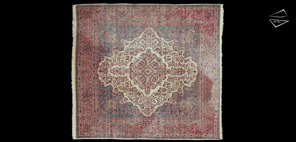 13x14 Persian Kerman Rug