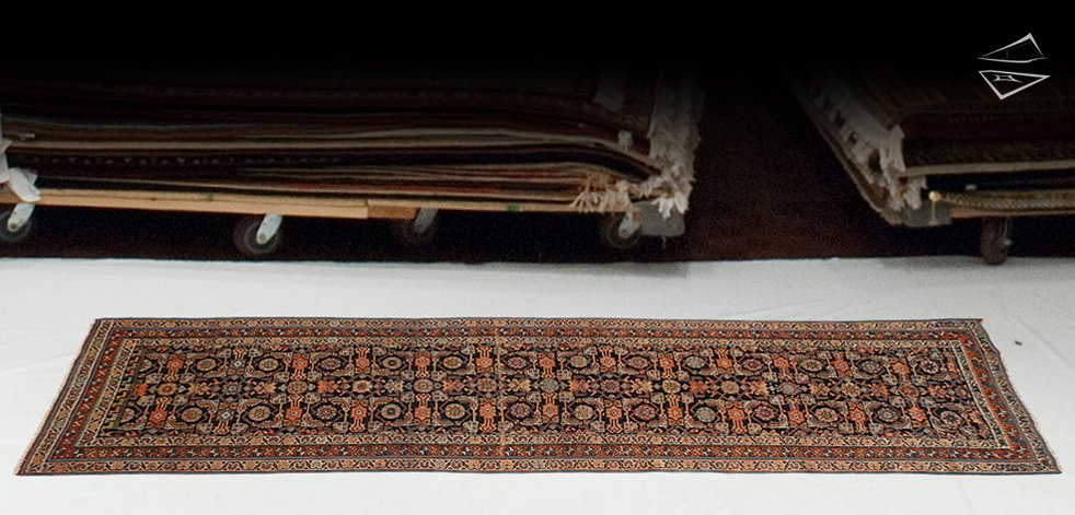 3x9 Persian Kurdish Rug Runner