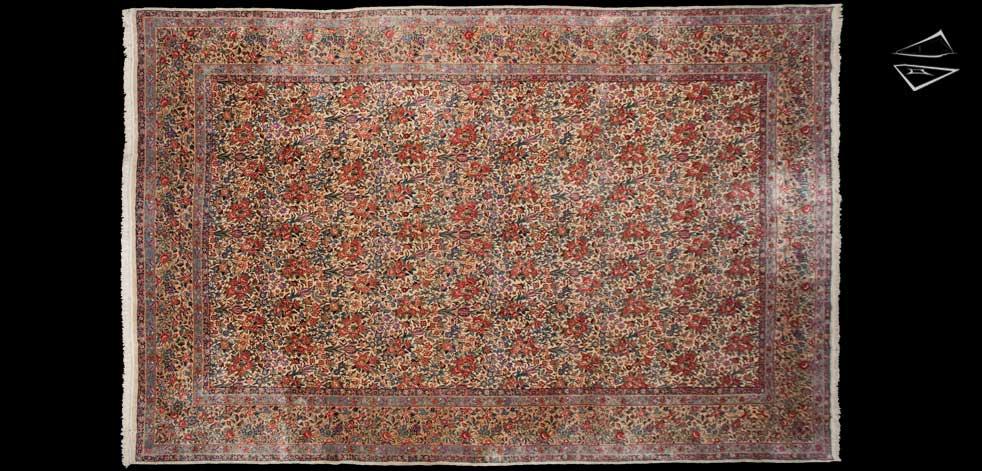 11x17 Persian Laver Kerman Rug