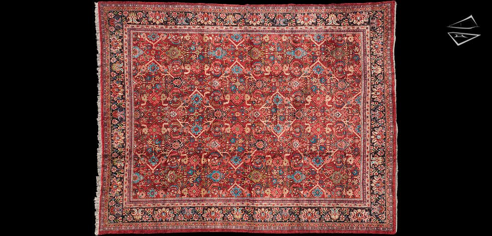 Large Persian Style Rugs Traditional Rug Burgandy 8 x 11