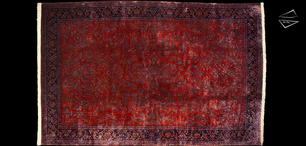 13x20 Persian Manchester Kashan Rug