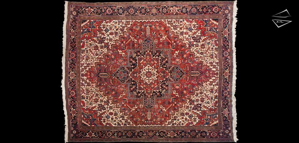 11x13 Persian Mehrivan Square Rug