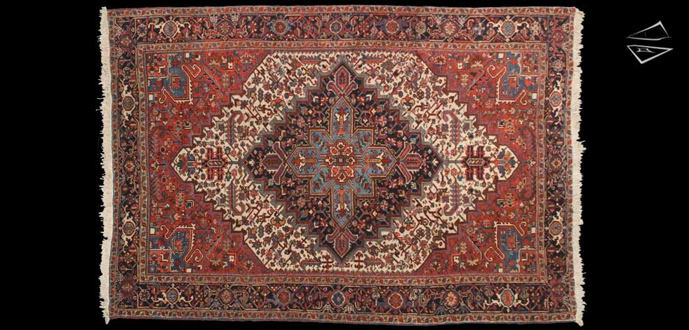 7x11 Persian Mehrivan Rug