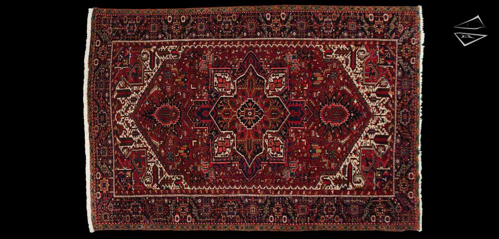 9x13 Persian Mehrivan Rug