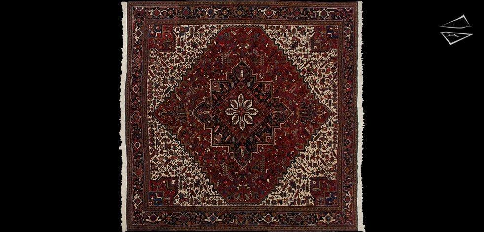 12x13 Persian Mehrivan Square Rug