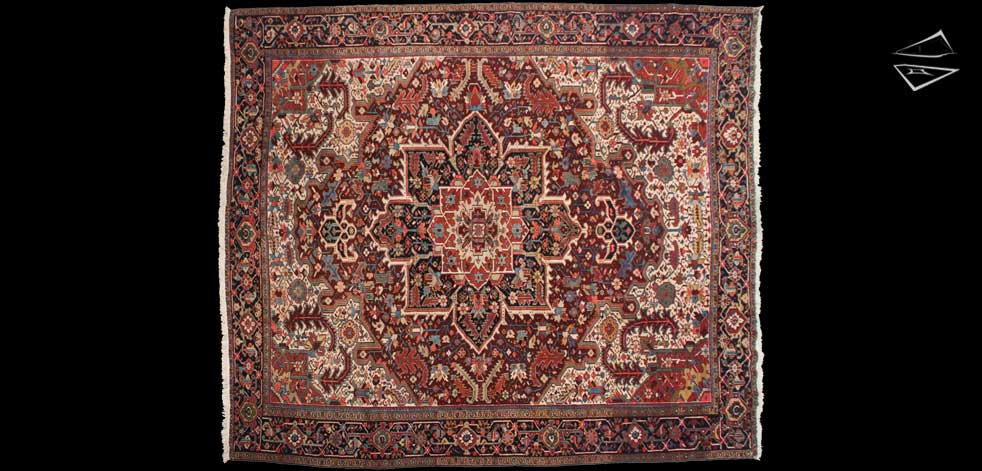 12x14 Persian Mehrivan Square Rug
