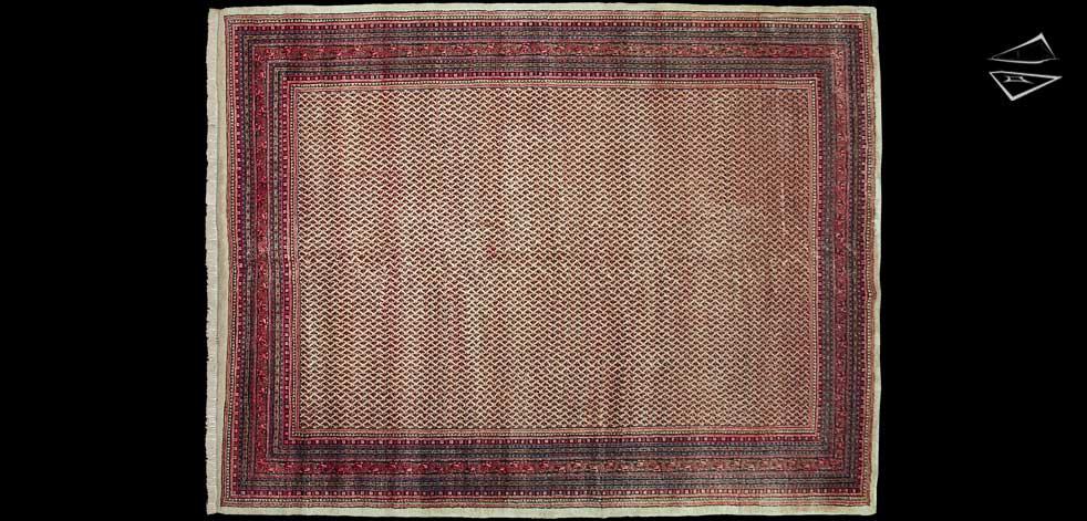 10x13 Persian Mir Sarouk Rug