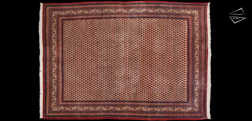 7x10 Persian Mir Sarouk Rug