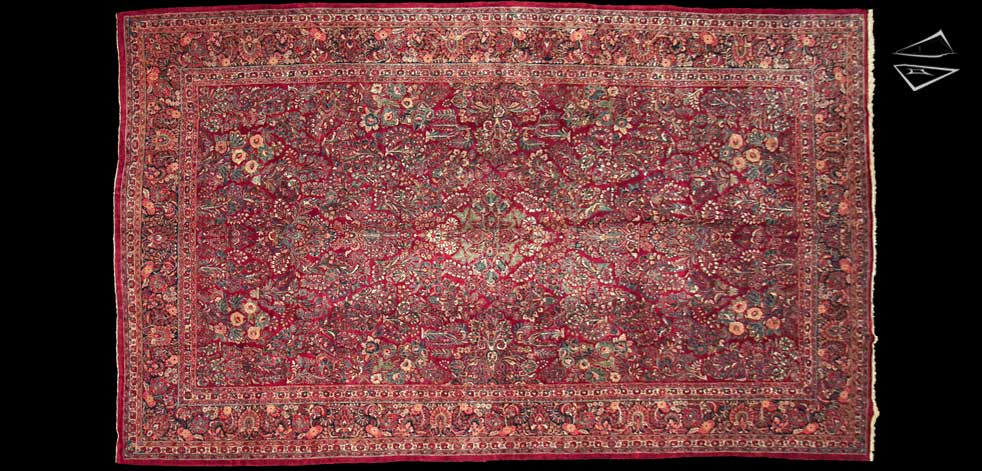 12x20 Persian Sarouk Rug