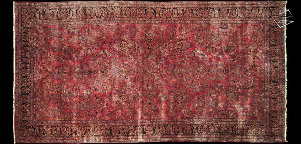 12x23 Persian Sarouk Rug