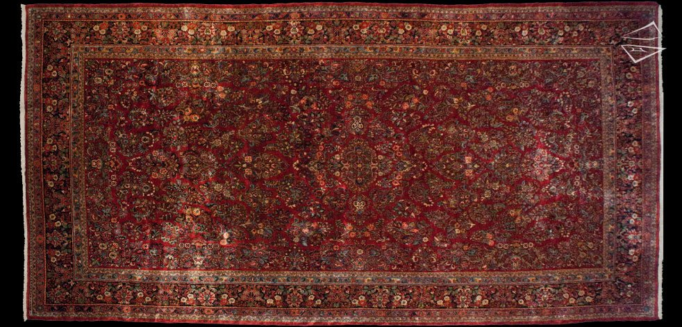 12x24 Persian Sarouk Rug