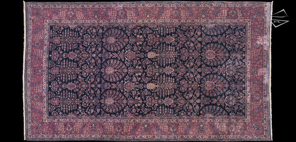 13x22 Persian Sarouk Rug