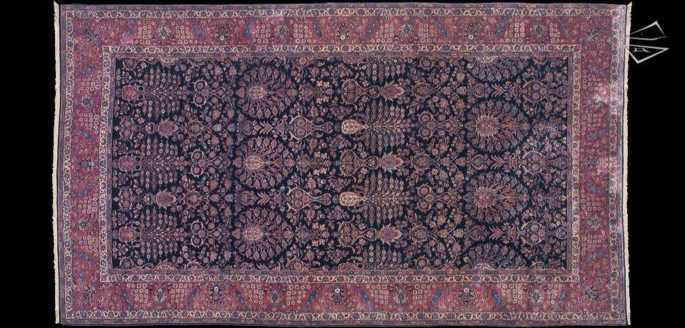 13x22 Persian Sarouk Rug