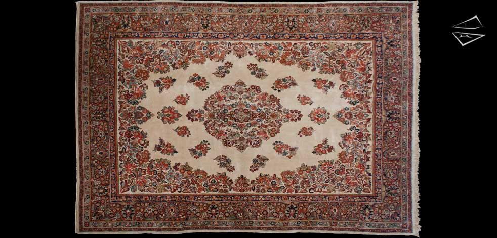 9x13 Persian Sarouk Rug