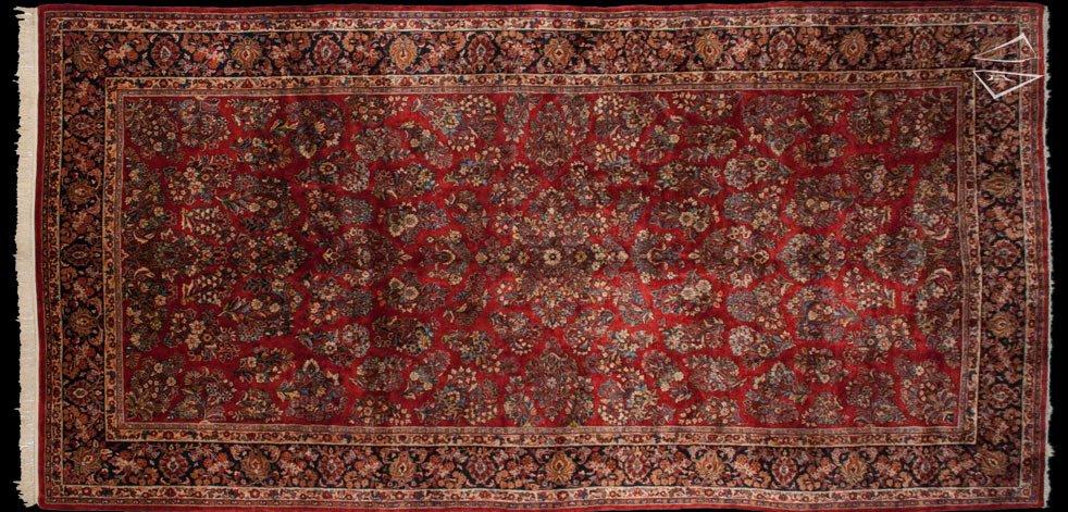 9x19 Persian Sarouk Rug