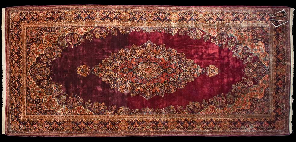 9x20 Persian Sarouk Rug