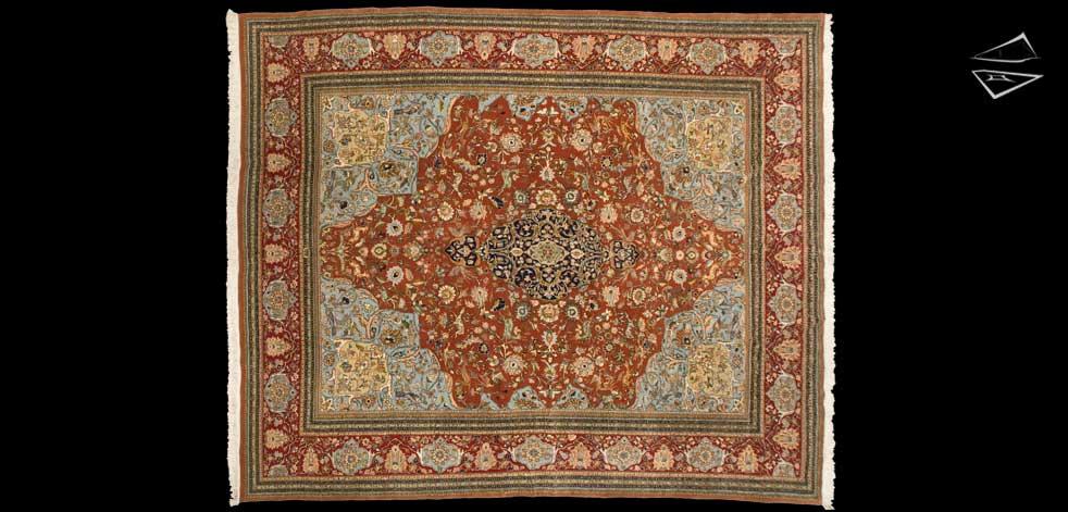 10x12 Persian Tabriz Square Rug