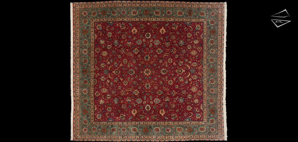 11x12 Persian Tabriz Square Rug