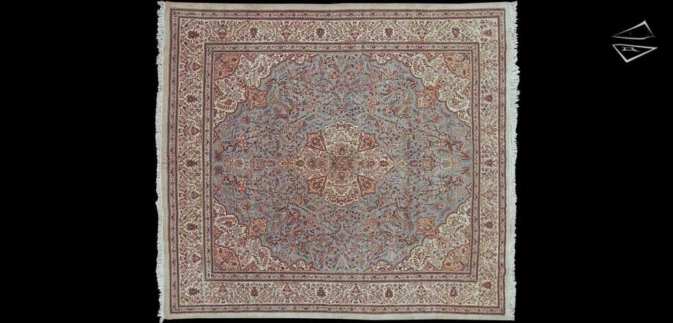 12x13 Persian Tabriz Square Rug