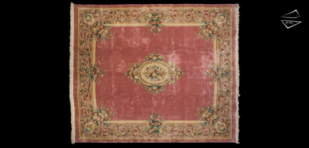 12x14 Savonnerie Square Rug