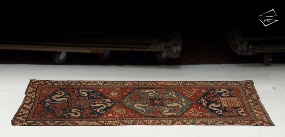 3x8 Siberian Kazak Rug Runner