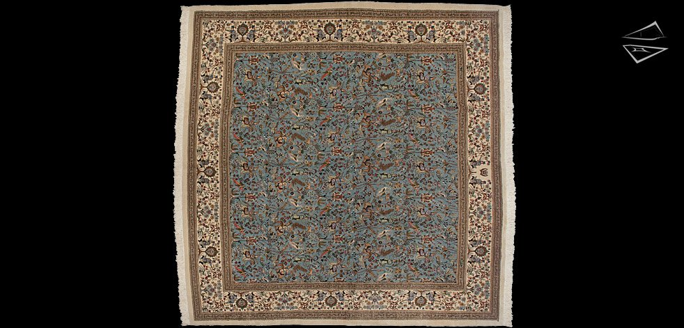 12x12 Square Persian Tabriz Rug
