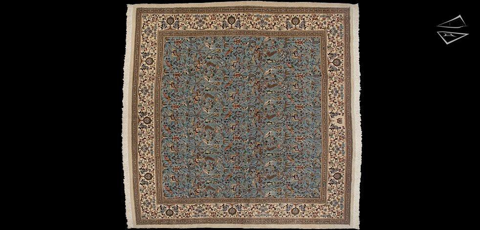 12x12 Square Persian Tabriz Rug