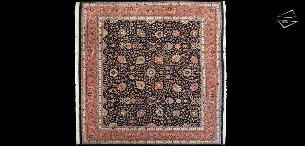 12x12 Tabriz Design Square Rug