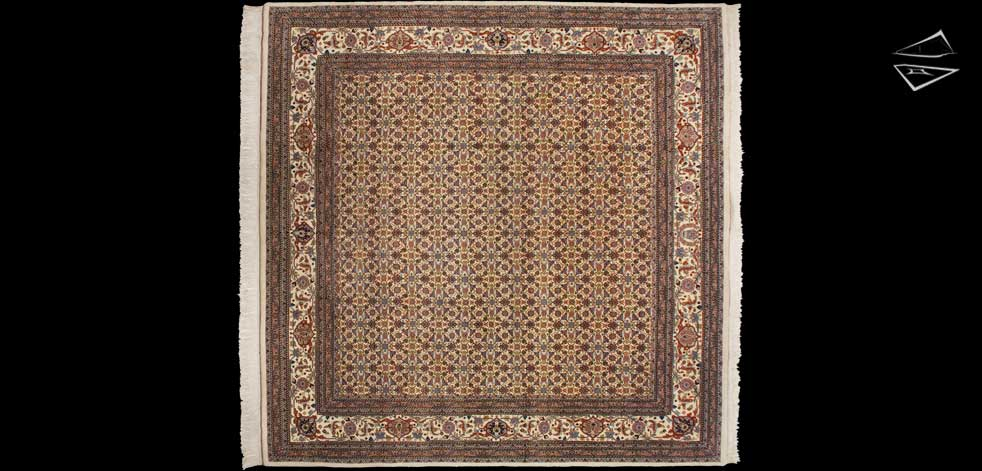 12x12 Tabriz Herati Design Square Rug