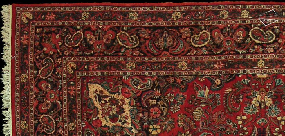 persian kazvin square rug 10 39 x 12 39. Black Bedroom Furniture Sets. Home Design Ideas