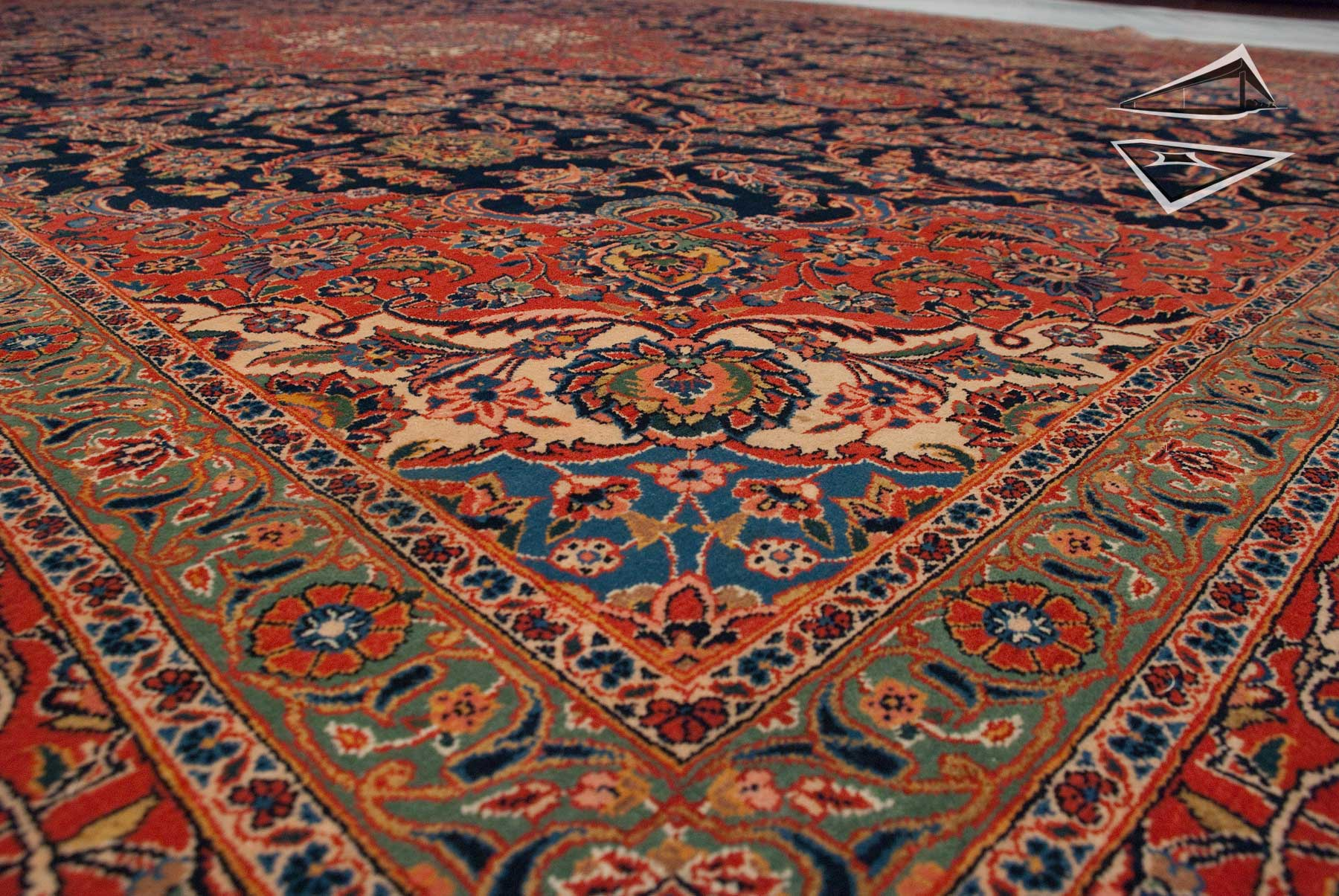 Charming Persian Kashan Rug