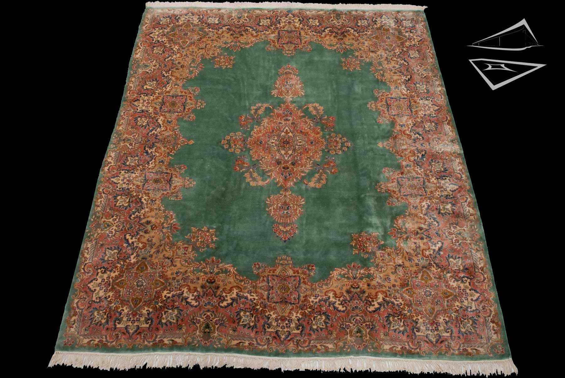 Persian Kerman Square Rug 10 X 12