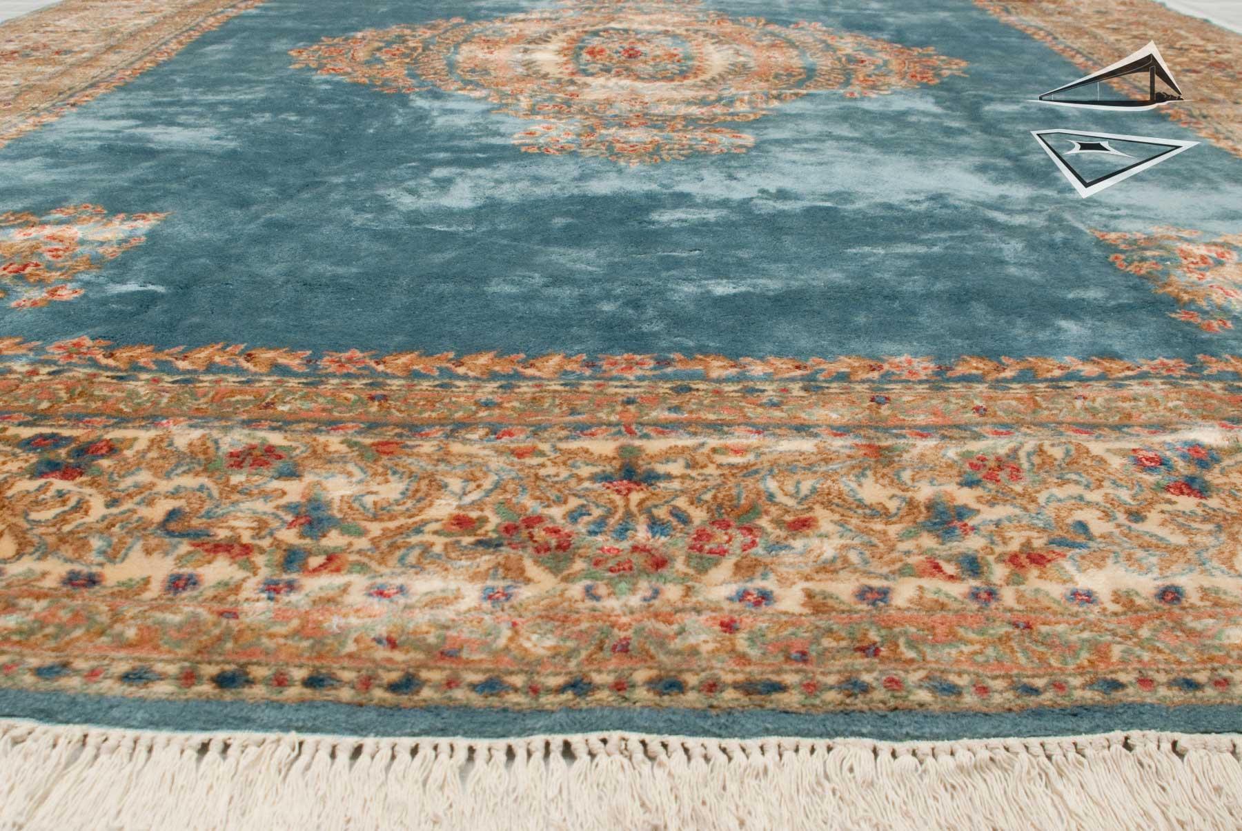 Persian Kerman Rug 10 X 14 Sky Blue