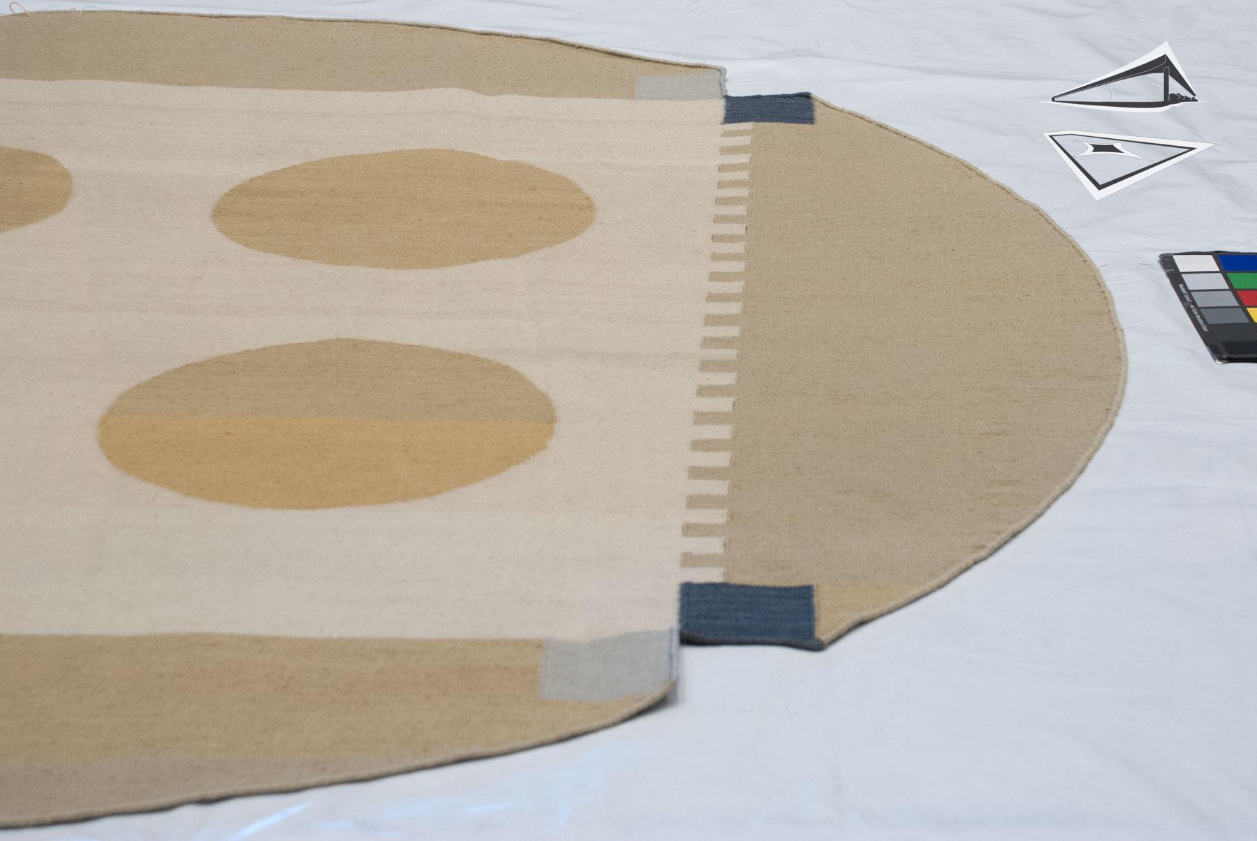 Modern Design Kilim Style Round Rug 7 X 7