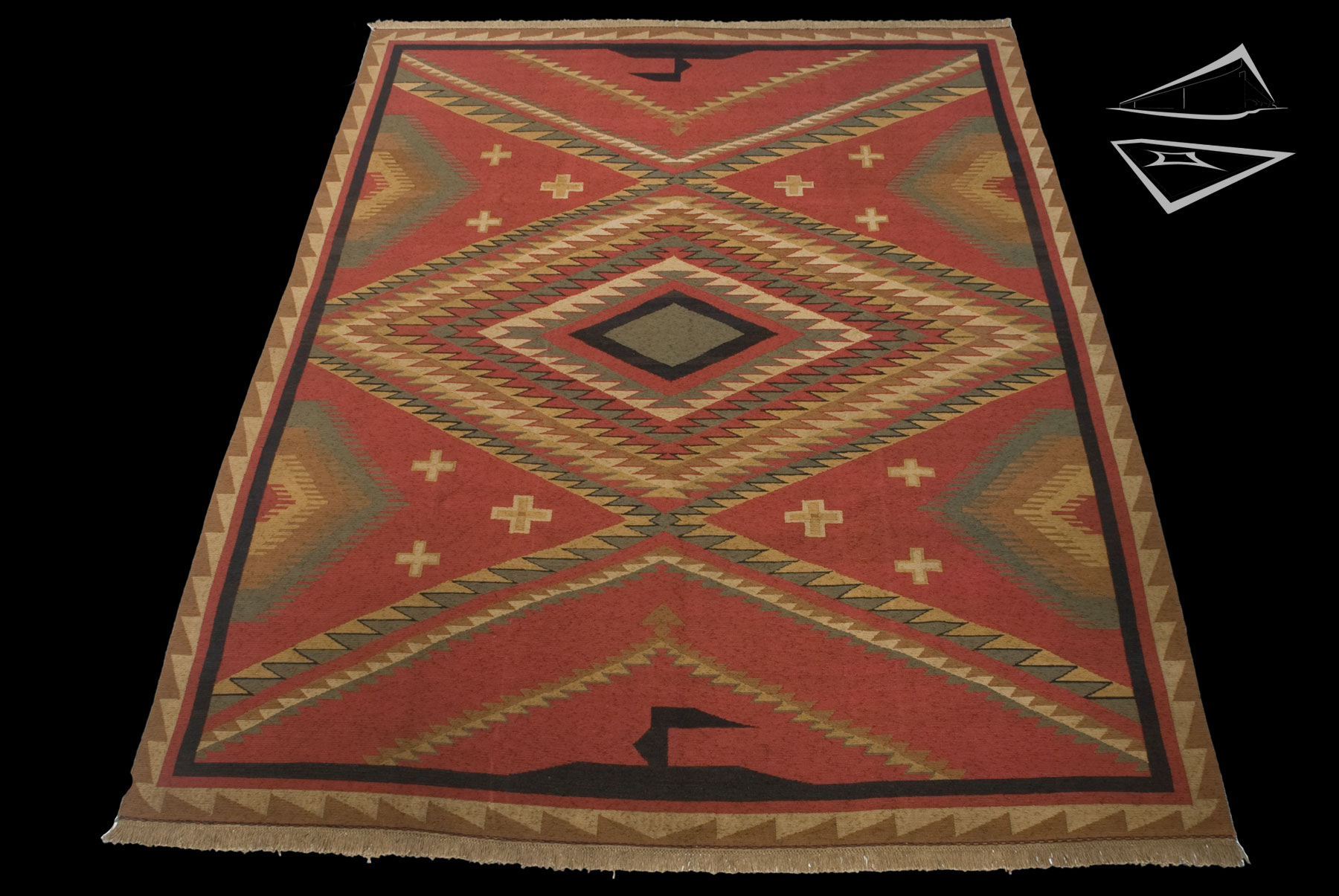soumac rug 10 39 x 13 39. Black Bedroom Furniture Sets. Home Design Ideas