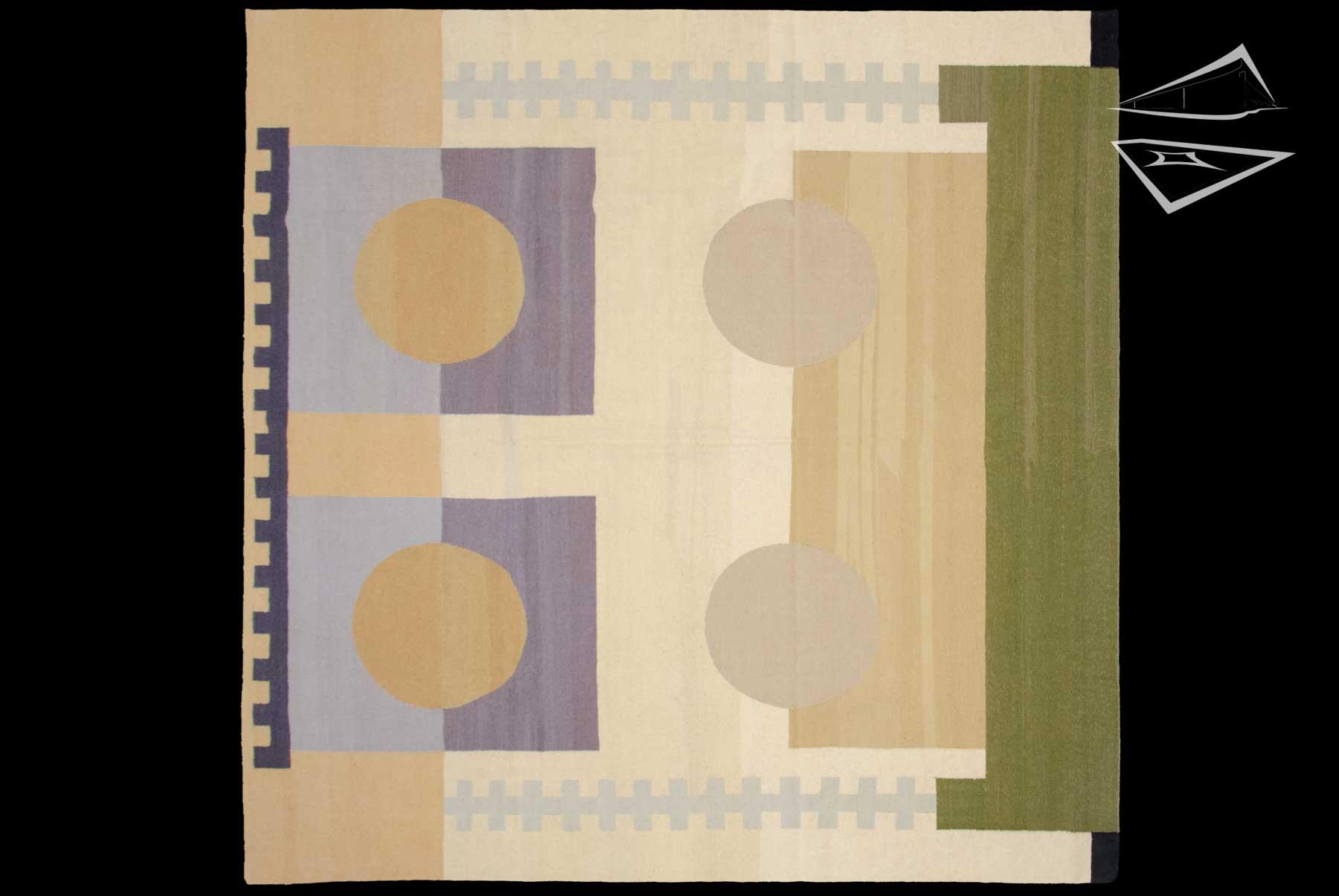 Modern Design Kilim Style Square Rug 8 X 8