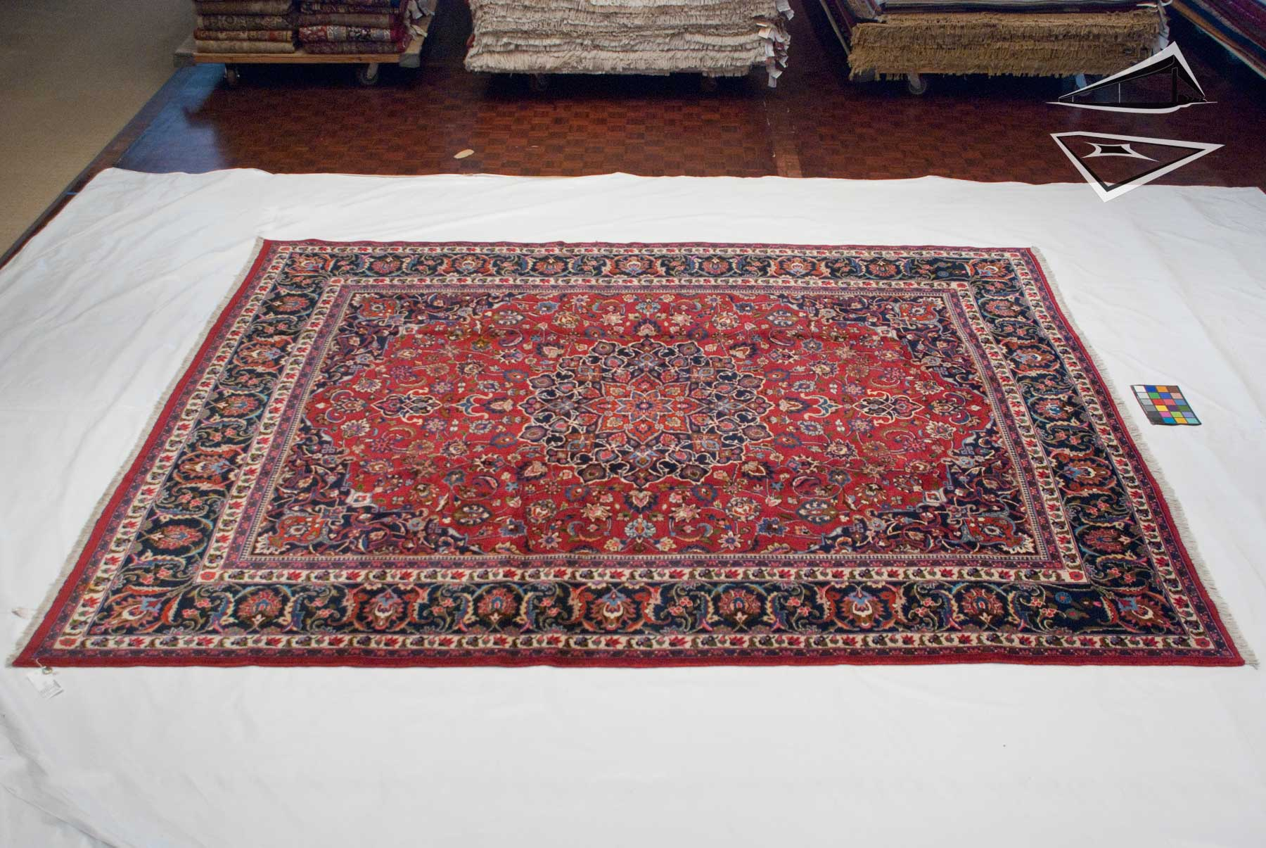 meshed design rug 10 39 x 11 39. Black Bedroom Furniture Sets. Home Design Ideas