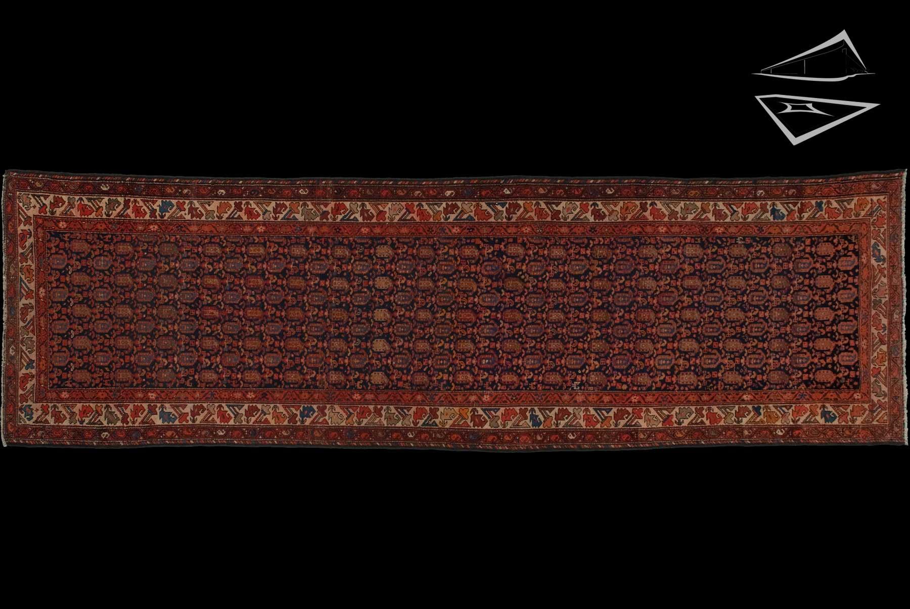 Persian Hamadan Rug Runner 4 X 13