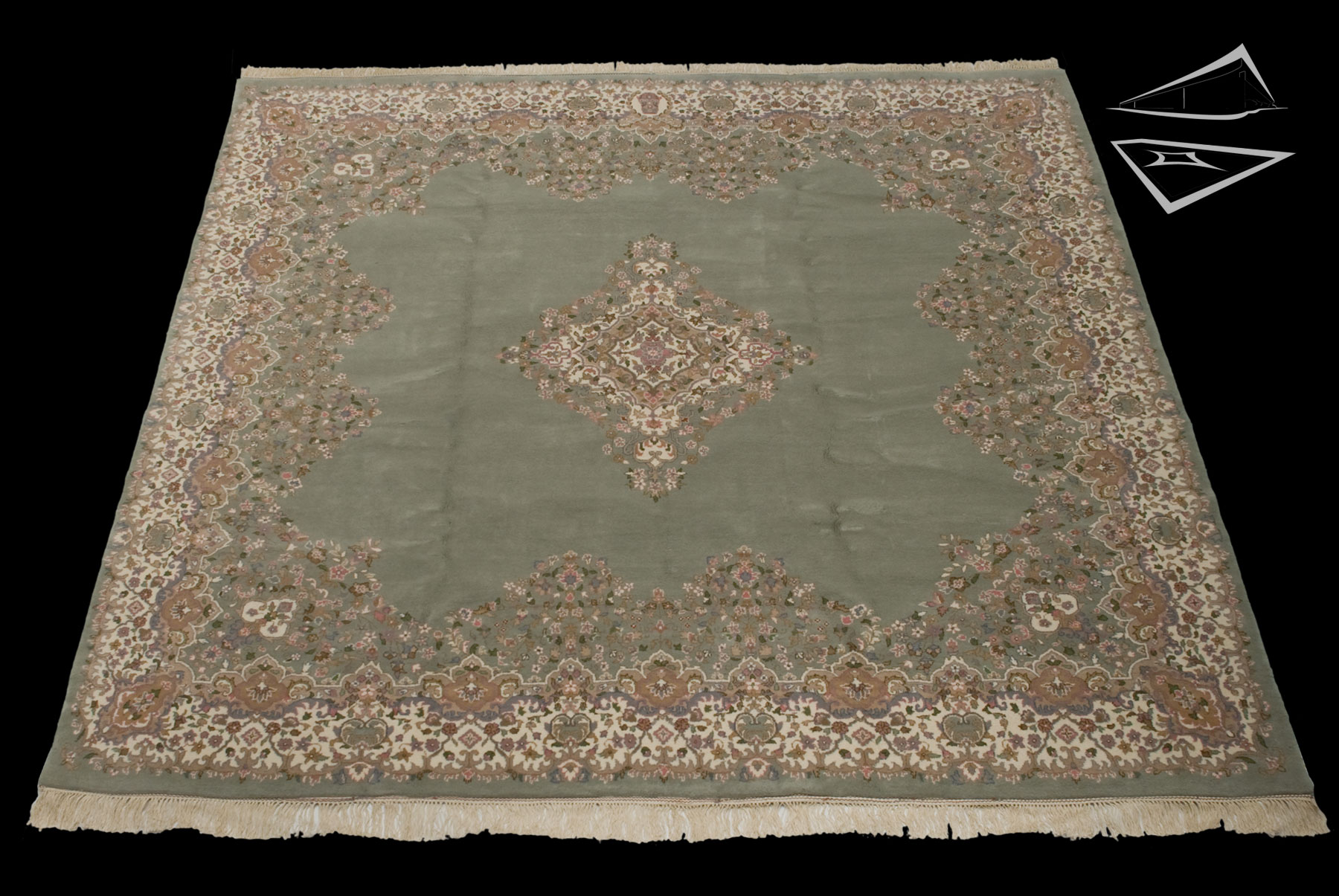 Kerman Design Square Rug 10 X 10