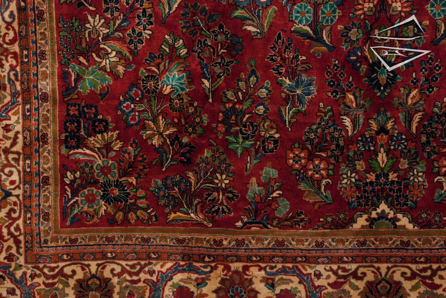 Persian Sarouk Square Rug 11 X 12