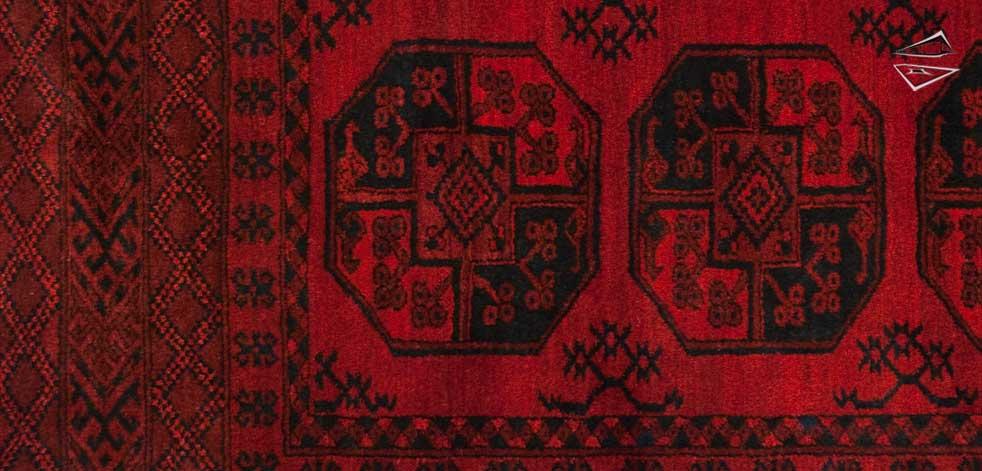 Ersari Afghan Rug 9 X 13