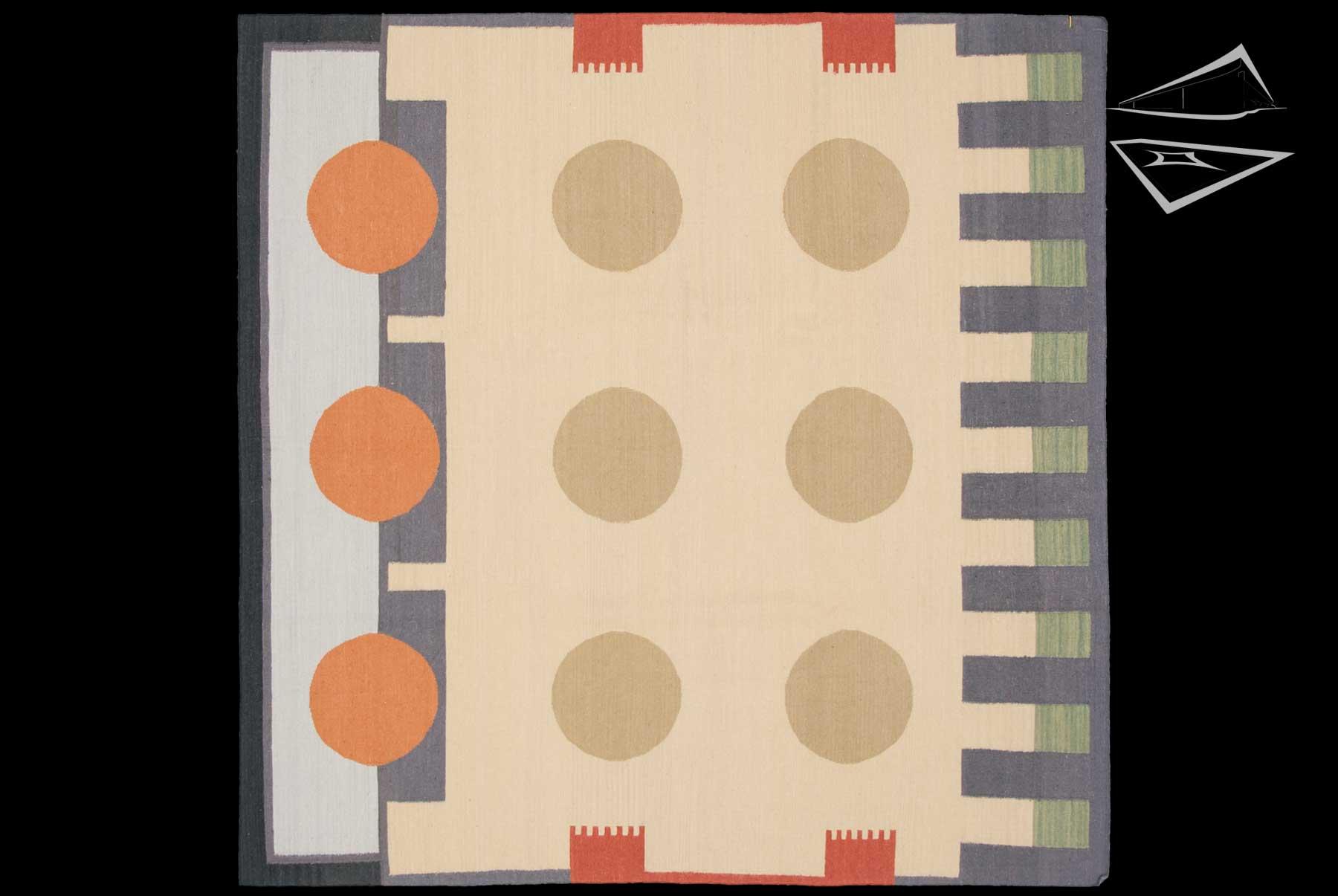Modern Design Kilim Style Square Rug 6 X 6
