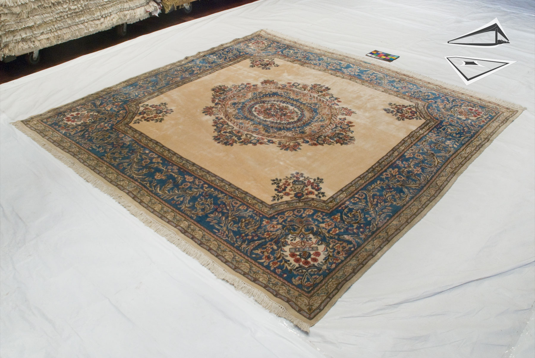 Persian Kerman Square Rug 10 X 10