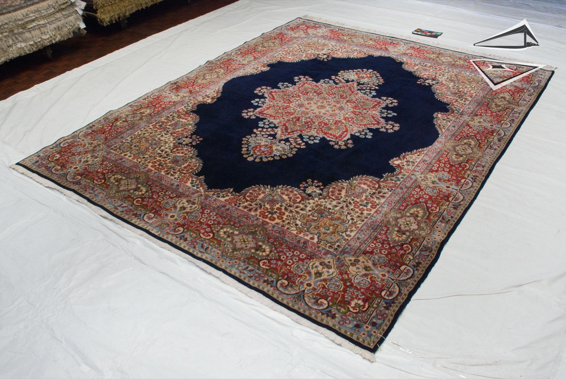 persian kerman square rug 10 39 x 12 39. Black Bedroom Furniture Sets. Home Design Ideas