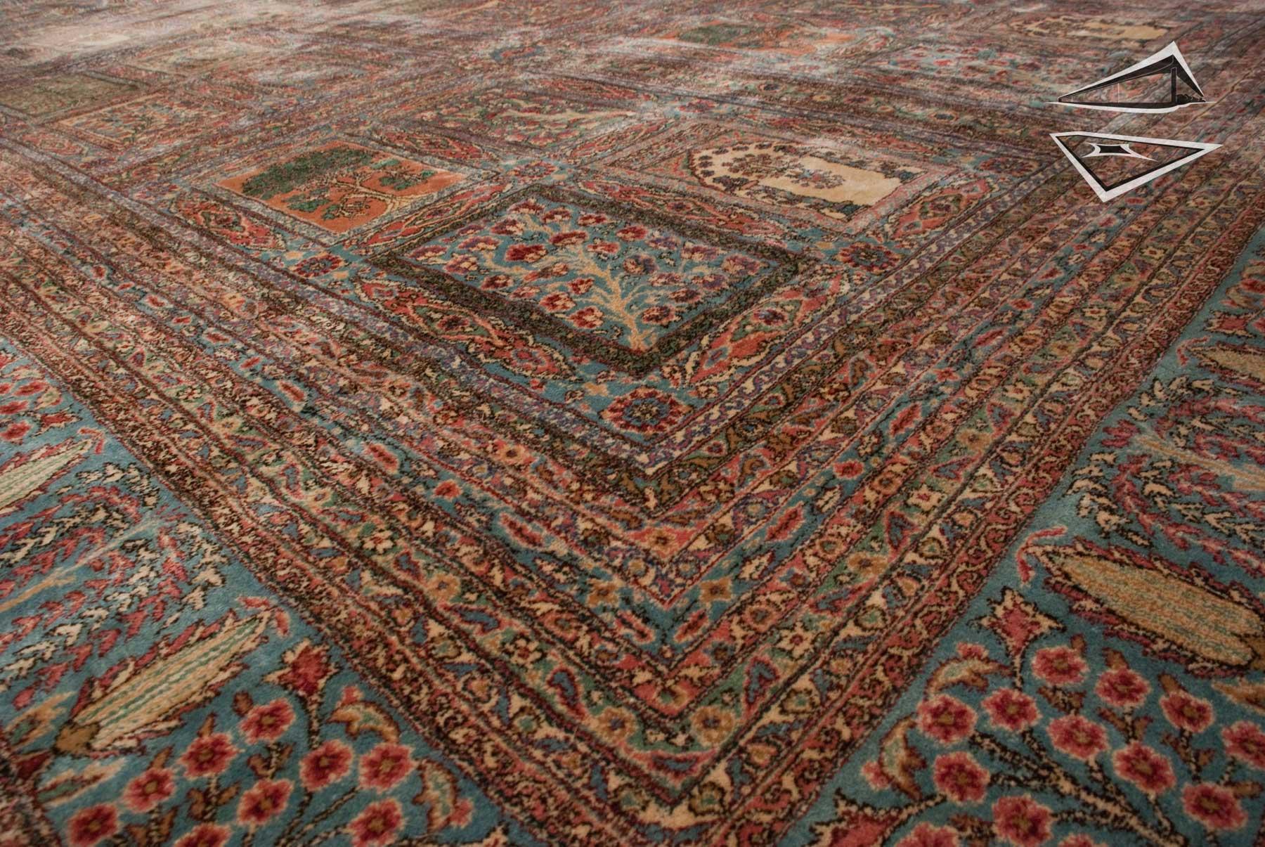 Persian Kerman Garden Panel Rug 12 X 24